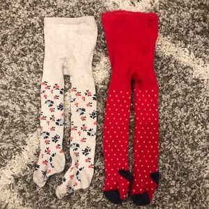 🔸3 for $25🔸2 Pairs Knit Tights, 18-24m